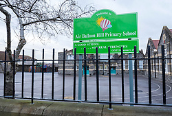 © Licensed to London News Pictures; 04/01/2021; Bristol, UK. Air Balloon Hill Primary School, one of the largest primaries in Bristol, is closed today at very short notice on what should have been the first day back for pupils after the Christmas holiday. The school sent a letter to parents yesterday afternoon (Sunday) announcing that Monday would be an inset (in-service training) day and that no children should attend school. The letter cites serious concerns the education community have over schools starting up again, and that these concerns are linked to COVID and the recent increase in cases related to the new strain of the virus. The school says it is waiting for new guidance which it understands will be coming to schools tomorrow via the Local Authority, and put in place measures that will enable all children to be educated safely. But the letter goes on to say that the school may opt to open only for vulnerable children and children of key workers for a short period time. Bristol is in Tier 3 restrictions to try and restrict the spread of Covid after a new strain of a more infectious coronavirus was detected late last year. Photo credit: Simon Chapman/LNP.
