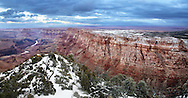 East Rim View Of The Grand Canyon National Park, Arizona, During Winter