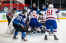 Players of Norway react when scoring third goal during the 2017 IIHF Men's World Championship group B Ice hockey match between National Teams of Norway and Finland, on May 13, 2017 in AccorHotels Arena in Paris, France. Photo by Vid Ponikvar / Sportida