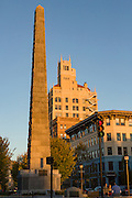 Vance Monument in Pack Square Park in Asheville, North Carolina.