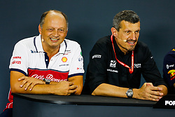 September 20, 2019, Singapore, Singapore: Motorsports: FIA Formula One World Championship 2019, Grand Prix of Singapore, .Frederic Vasseur (FRA, Alfa Romeo Racing), Guenther Steiner (ITA, Haas F1 Team) (Credit Image: © Hoch Zwei via ZUMA Wire)