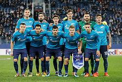 November 23, 2017 - Saint Petersburg, Russia - FC Zenit Saint Petersburg players pose before the UEFA Europa League Group L match between FC Zenit St. Petersburg and FK Vardar at Saint Petersburg Stadium on November 23, 2017 in Saint Petersburg, Russia. (Credit Image: © Mike Kireev/NurPhoto via ZUMA Press)
