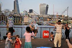 Street entertainer, Bankside, London August 2016 UK