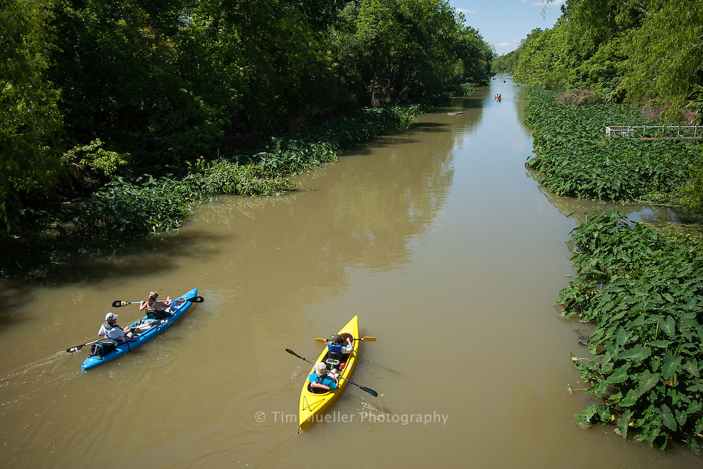 The 2012 Paddle Bayou Lafourche put on by the Barataria-Terrebonne National Estuary Program starts in Donaldsonville and travels 52-miles to the community of Lockport. Nearly 120 kayak and canoe teams participated in the event.