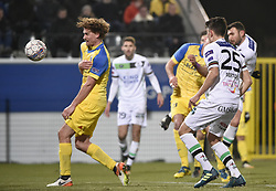 February 17, 2018 - Leuven, BELGIUM - OHL's Jovan Kostovski scores a goal during a soccer game between OH Leuven and KFCO Beerschot Wilrijk, in Heverlee, Leuven, Saturday 17 February 2018, on day 27 of the division 1B Proximus League competition of the Belgian soccer championship. BELGA PHOTO BRUNO FAHY (Credit Image: © Bruno Fahy/Belga via ZUMA Press)