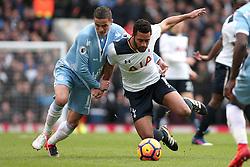 26 February 2017 - Premier League - Tottenham Hotspur v Stoke City<br /> Ibrahim Afellay of Stoke pulls Mousa Dembele of Tottenham to the ground<br /> Photo: Charlotte Wilson