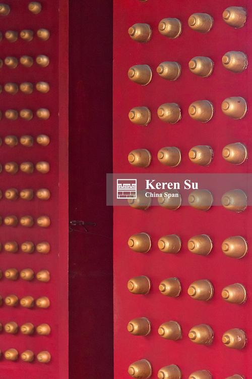 Red door in Guan Di Temple, Hsinchu, Taiwan