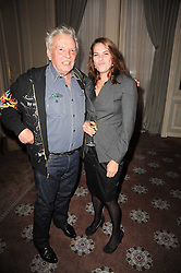 DAVID BAILEY and TRACEY EMIN at a dinner hosted by Vogue in honour of photographer David Bailey at Claridge's, Brook Street, London on 11th May 2010.