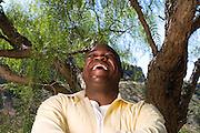 Actor Leonard Howze, photographed on Mulholland Drive