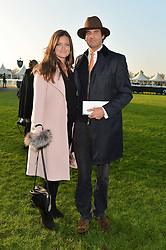 RUPERT & LADY NATASHA FINCH at the 2014 Hennessy Gold Cup at Newbury Racecourse, Newbury, Berkshire on 29th November 2014.  The Gold Cup was won by Many Clouds ridden by Leighton Aspell.