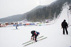 Hill during Normal Hill Individual Competition at FIS World Cup Ski jumping Ladies Ljubno 2012, on February 11, 2012 in Ljubno ob Savinji, Slovenia. (Photo By Vid Ponikvar / Sportida.com)