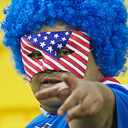 A USA fan during the Australia V USA, Pool C match during the IRB Rugby World Cup tournament. Wellington Stadium, Wellington, New Zealand, 23rd September 2011. Photo Tim Clayton...