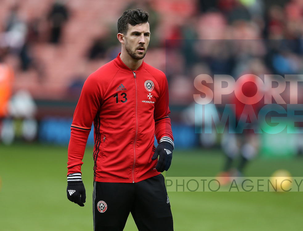 Jake Wright of Sheffield Utd  during the English League One match at Bramall Lane Stadium, Sheffield. Picture date: December 31st, 2016. Pic Simon Bellis/Sportimage