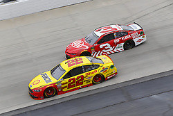 May 6, 2018 - Dover, Delaware, United States of America - Joey Logano (22) and Austin Dillon (3) battle for position during the AAA 400 Drive for Autism at Dover International Speedway in Dover, Delaware. (Credit Image: © Chris Owens Asp Inc/ASP via ZUMA Wire)