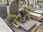 Grave of modern dancer and choreographer Vaslav Nijinsky (1890-1950) Cimetiere Montmartre Paris