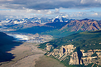 Nizina  Glacier and River Valley, Wrangell-St. Elias National Park Alaska