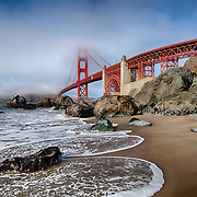 Golden Gate Bridge - Marshalls Beach Incoming Tide