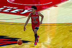 NORMAL, IL - February 27: Josiah Strong during a college basketball game between the ISU Redbirds and the Northern Iowa Panthers on February 27 2021 at Redbird Arena in Normal, IL. (Photo by Alan Look)