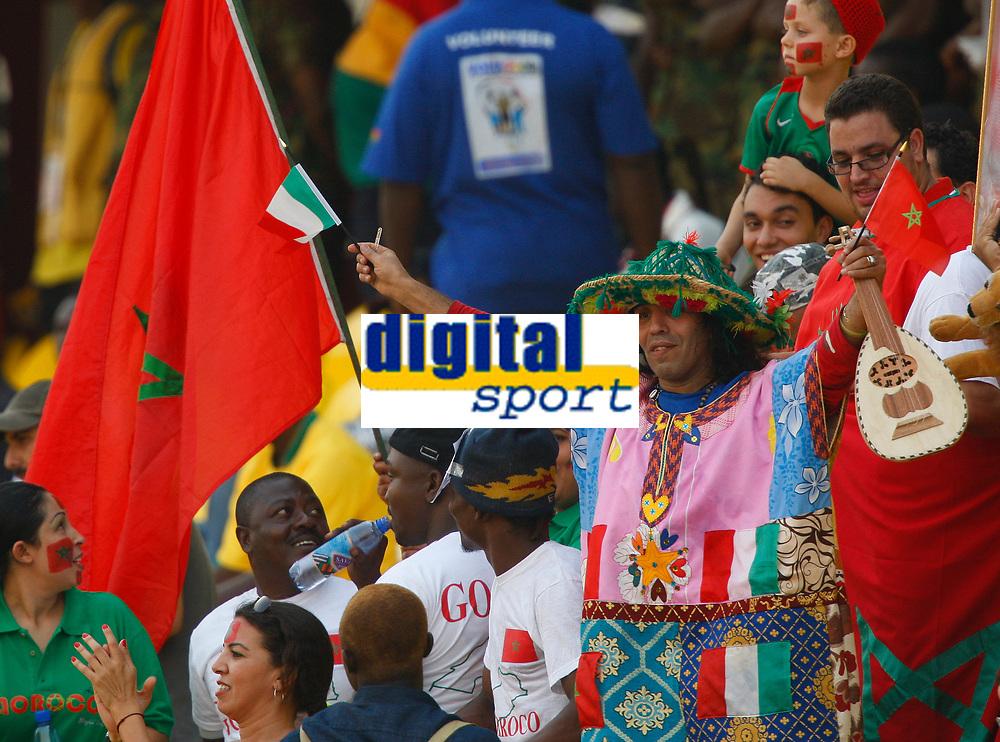 Photo: Steve Bond/Richard Lane Photography.<br /> Guinea v Morocco. Africa Cup of Nations. 24/01/2008. Morocco fans