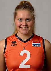 07-04-2014 NED: SELECTIE JONG ORANJE: ARNHEM<br /> Volleybalteam Jong Oranje / Ilse Janssen<br /> ©2014-FotoHoogendoorn.nl