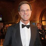 NLD/Amsterdam/20160210 - gasten arriveren bij Correspondents' Dinner 2016, Mark Rutte