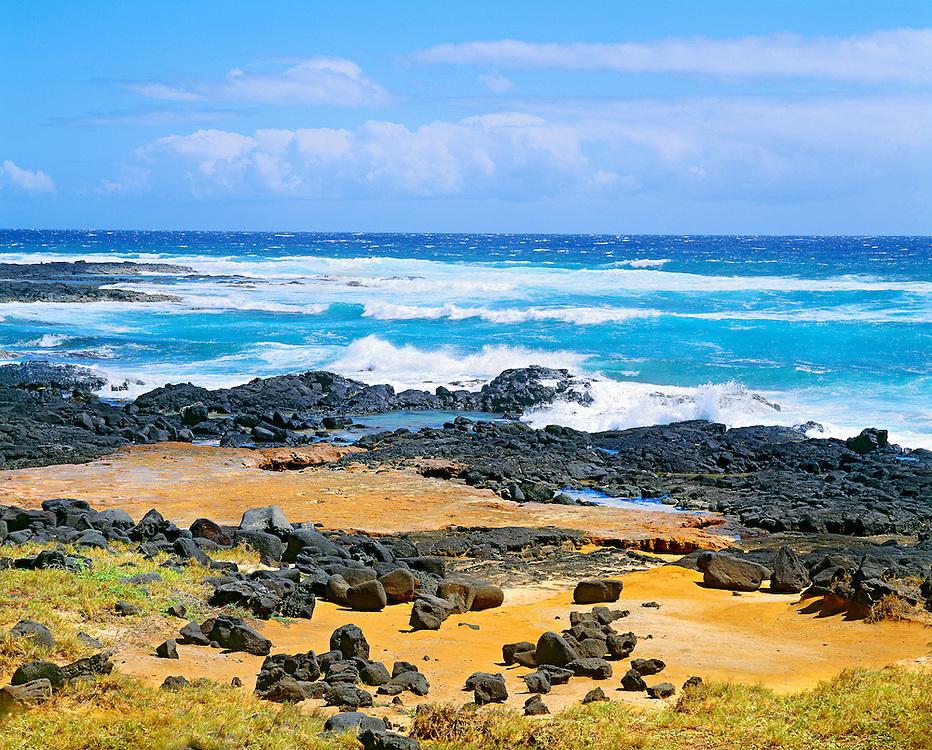 Breaking waves at South Pt. Hawaii