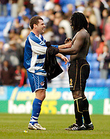 Photo: Leigh Quinnell.<br /> Reading v Portsmouth. The Barclays Premiership. 17/03/2007. Readings Graeme Murty swaps shirts with Portsmouths Linvoy Primus.