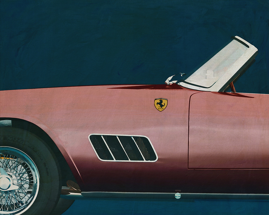 If you want to give your interior an extra stylish detail, this painting by a 1960 Ferrari 250GT Spyder California is perfect. –<br /> <br /> <br /> BUY THIS PRINT AT<br /> <br /> FINE ART AMERICA<br /> ENGLISH<br /> https://janke.pixels.com/featured/ferrari-250gt-spyder-california-1960-close-up-jan-keteleer.html<br /> <br /> WADM / OH MY PRINTS<br /> DUTCH / FRENCH / GERMAN<br /> https://www.werkaandemuur.nl/nl/shopwerk/Ferrari-250GT-Spyder-Californie-1960/528849/132