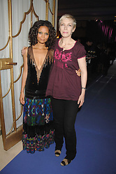 Left to right, THANDIE NEWTON and ANNIE LENNOX at the 10th Anniversary Party of the Lavender Trust, Breast Cancer charity held at Claridge's, Brook Street, London on 1st May 2008.<br />