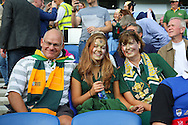 South Africa fans before the Rugby World Cup Pool B match between South Africa and Japan at the Community Stadium, Brighton and Hove, England on 19 September 2015. Photo by Phil Duncan.