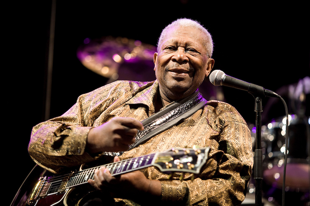 Nice (Cimiez), France. July 20th 2009. .B.B. King performs at the Nice Jazz Festival.