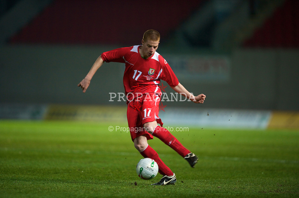 LLANELLI, WALES - Tuesday, March 31, 2009: Wales' Nathan Craig in action against Luxembourg during the UEFA Under-21 Championship Group 3 match at Parc-Y-Scarlets. (Pic by David Rawcliffe/Propaganda)