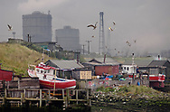 By The Sea - Redcar Gar colour photo art pictures by Paul Williams of the fishing boats in the small harbour at the mouth of the Tees, England. .<br /> <br /> Visit our REPORTAGE & STREET PEOPLE PHOTO ART PRINT COLLECTIONS for more wall art photos to browse https://funkystock.photoshelter.com/gallery-collection/People-Photo-art-Prints-by-Photographer-Paul-Williams/C0000g1LA1LacMD8