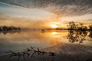 Laguna de Santa Rosa, a wetland tributary of the Russian River, flooded after a winter storm near Sebastopol, California