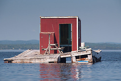 Floating Cabin in Harbor, Castine, Maine, US