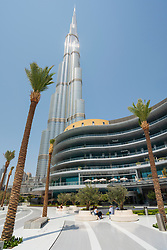 Exterior of new extension to the Dubai Mall, the Fashion Avenue , housing restaurants and high-end shops and shopping with luxury brands, in Dubai, United Arab Emirates.