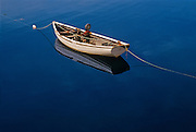Anchored fishing boat<br /> Peggy's Cove<br /> Nova Scotia<br /> Canada