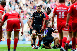 Sam Skinner of Exeter Chiefs look dejected after the final whistle of the match - Mandatory by-line: Ryan Hiscott/JMP - 01/06/2019 - RUGBY - Twickenham Stadium - London, England - Exeter Chiefs v Saracens - Gallagher Premiership Rugby Final