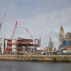 Construction of the new Museum of Liverpool at the Pier Head.