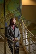 Atlanta, GA. December 7, 2014.  Dr. Manu Platt, at the Georgia Tech Institute for Bioengineering and Biosciences . (Photo by Michael A. Schwarz.)
