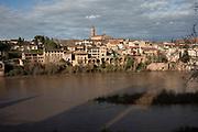 View from the Jardins du Palais de la Berbie across the Tarn River in Albi, Southern France.