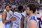 DESCRIZIONE : Beko Legabasket Serie A 2015- 2016 Playoff Quarti di Finale Gara3 Dinamo Banco di Sardegna Sassari - Grissin Bon Reggio Emilia<br /> GIOCATORE : Team Dinamo Banco di Sardegna Sassari<br /> CATEGORIA : Postgame Fair Play Ritratto Delusione<br /> SQUADRA : Dinamo Banco di Sardegna Sassari<br /> EVENTO : Beko Legabasket Serie A 2015-2016 Playoff<br /> GARA : Quarti di Finale Gara3 Dinamo Banco di Sardegna Sassari - Grissin Bon Reggio Emilia<br /> DATA : 11/05/2016<br /> SPORT : Pallacanestro <br /> AUTORE : Agenzia Ciamillo-Castoria/L.Canu
