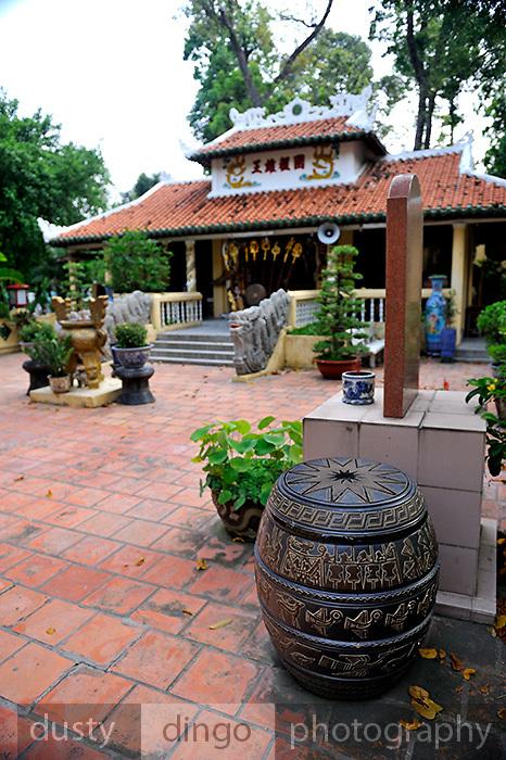 Forecourt of Buddhist Temple in Cong Vien Van Hoa Park, Ho Chi Minh City (Saigon), Viet Nam.