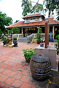 Forecourt of Buddhist Temple in Cong Vien Van Hoa Park, Ho Chi Minh City (Saigon), Viet Nam.