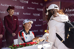 September 30, 2017 - Auckland, Auckland, New Zealand - New Zealand's Lydia Ko signs autograph to fans after day three of the MCKAYSON New Zealand Women's Open at Windross Farm in Auckland, New Zealand on Sep 30, 2017.  Featuring World Number One Lydia Ko, The MCKAYSON New Zealand Women's Open is the first ever LPGA Tour event to be played in New Zealand. (Credit Image: © Shirley Kwok/Pacific Press via ZUMA Wire)