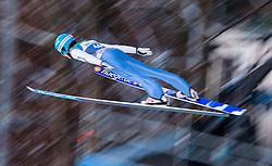 06.01.2015, Paul Ausserleitner Schanze, Bischofshofen, AUT, FIS Ski Sprung Weltcup, 63. Vierschanzentournee, Probedurchgang, im Bild Clemens Aigner (AUT) // Clemens Aigner of Austria soars trought the air during his Trial Jump for the 63rd Four Hills Tournament of FIS Ski Jumping World Cup at the Paul Ausserleitner Schanze, Bischofshofen, Austria on 2015/01/06. EXPA Pictures © 2015, PhotoCredit: EXPA/ Johann Groder