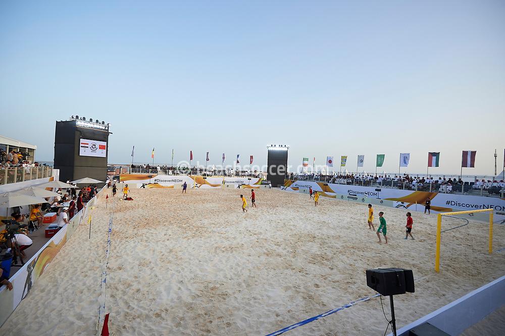 NEOM, SAUDI ARABIA - JULY 18: Neom Beach Soccer Cup at Neom on July 18, 2019 in Neom, Saudi Arabia. (Photo by Mateo Villalba)