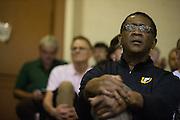 Bill Cartwright watches the University of San Francisco Dons host the San Francisco State University Gators at Kezar Pavilion in San Francisco, Calif., on December 6, 2016. (Stan Olszewski/Special to S.F. Examiner)