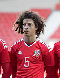 WREXHAM, WALES - Thursday, November 10, 2016: Wales' Ethan Ampadu before kick off against Greece during the UEFA European Under-19 Championship Qualifying Round Group 6 match at the Racecourse Ground. (Pic by Gavin Trafford/Propaganda)