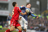Ross McCormack of Cardiff City in action. Coca cola championship, Cardiff City v Nottingham Forest at Ninian Park in Cardiff on Sat 31st Jan 2009..pic by Andrew Orchard, Andrew Orchard sports photography,